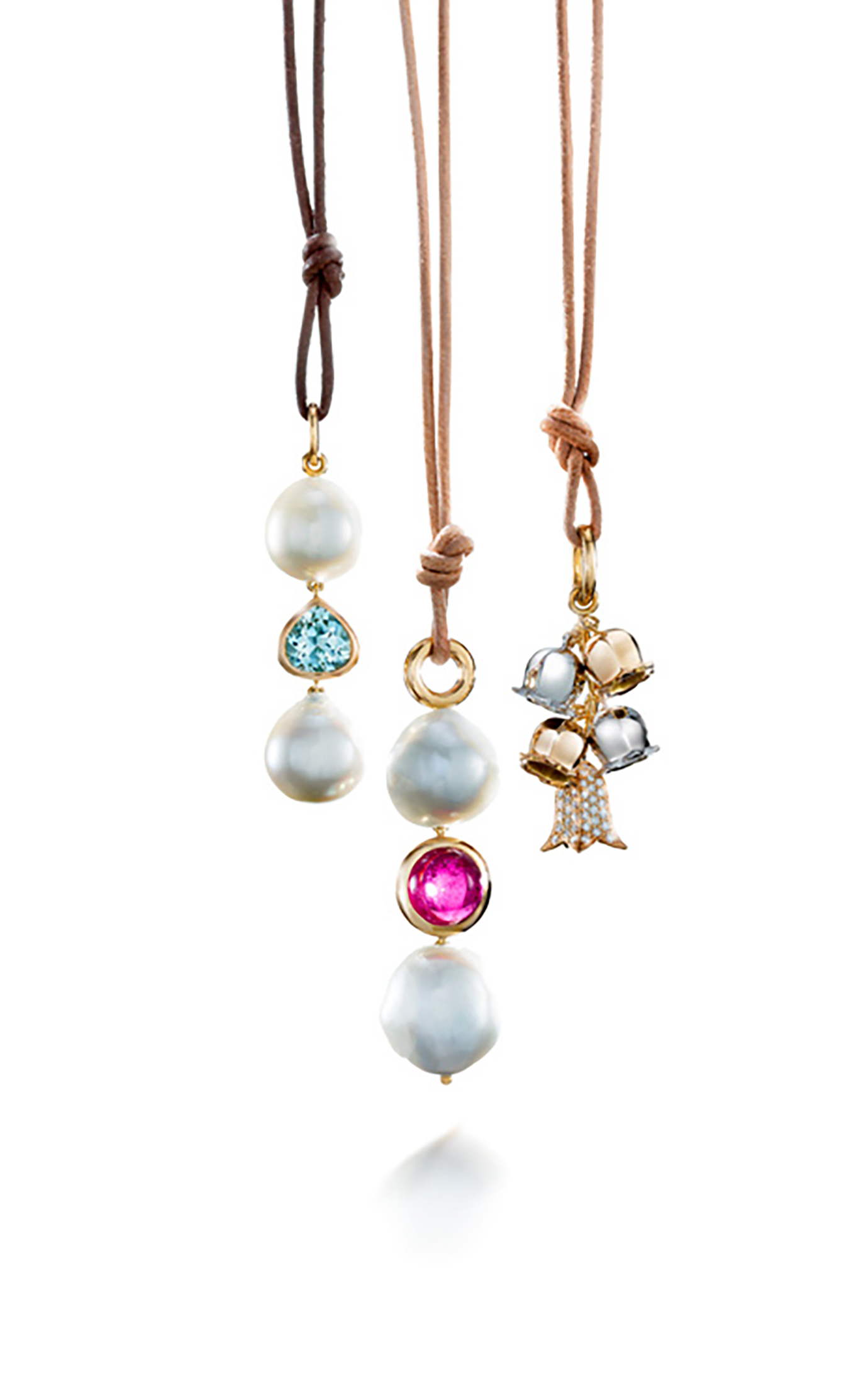 Pearl and gemstone pendants aloadofball Images